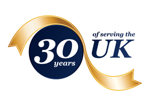 30 Year Anniversary Logo for Automated Packaging Systems UK