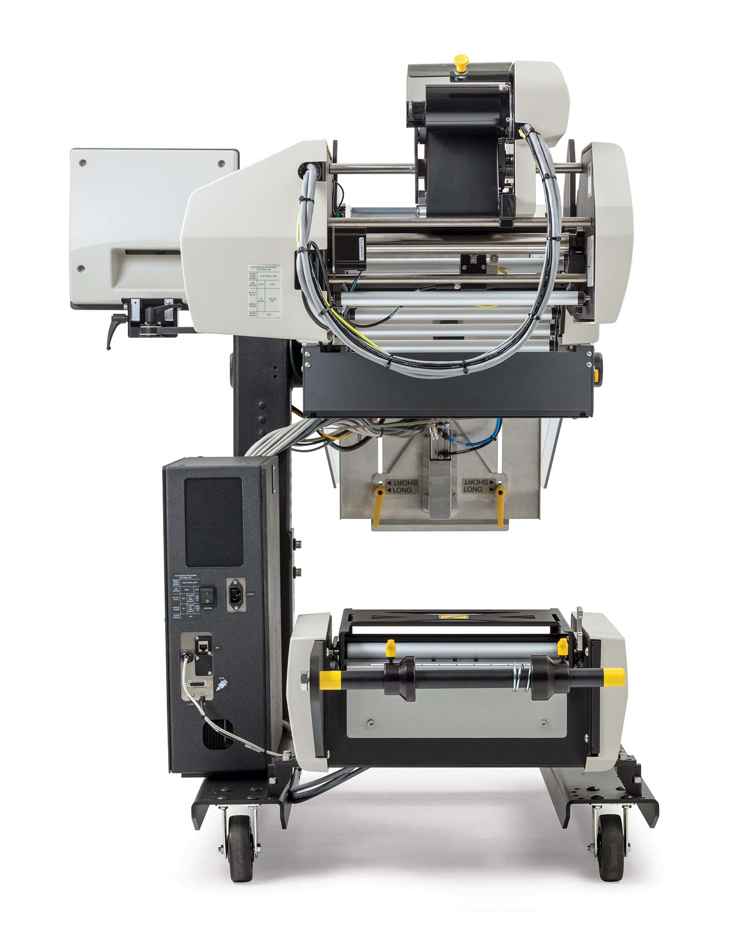 AutoLabel 500 high resolution inline printer back view
