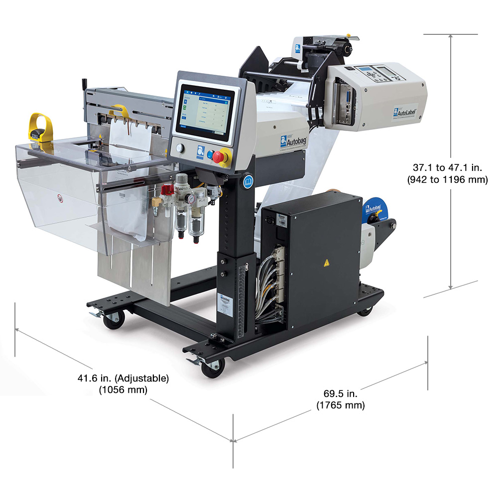 AutoLabel 600 high resolution inline printer dimensions