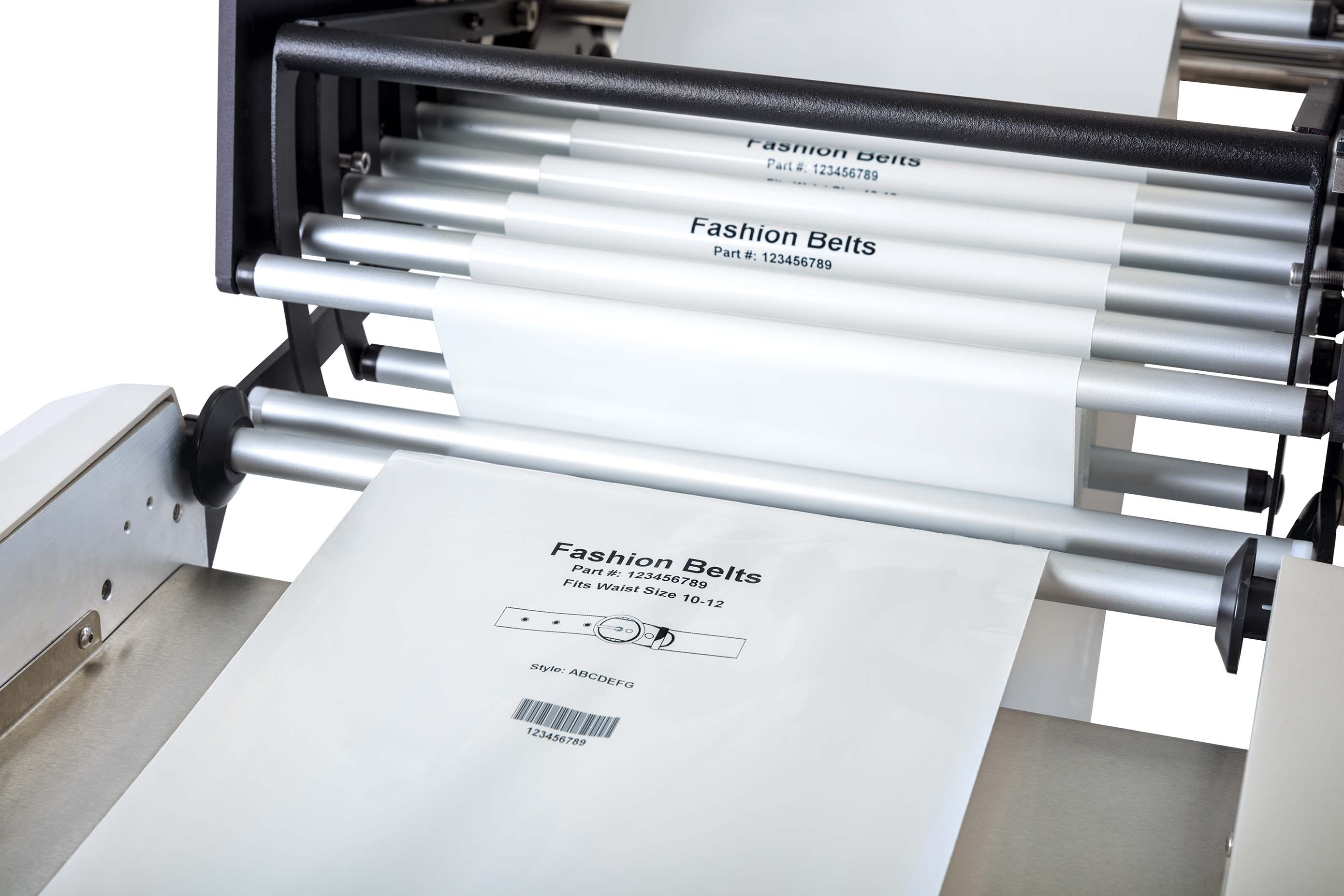 AutoLabel 600 high resolution inline printer showing graphics, text, barcodes