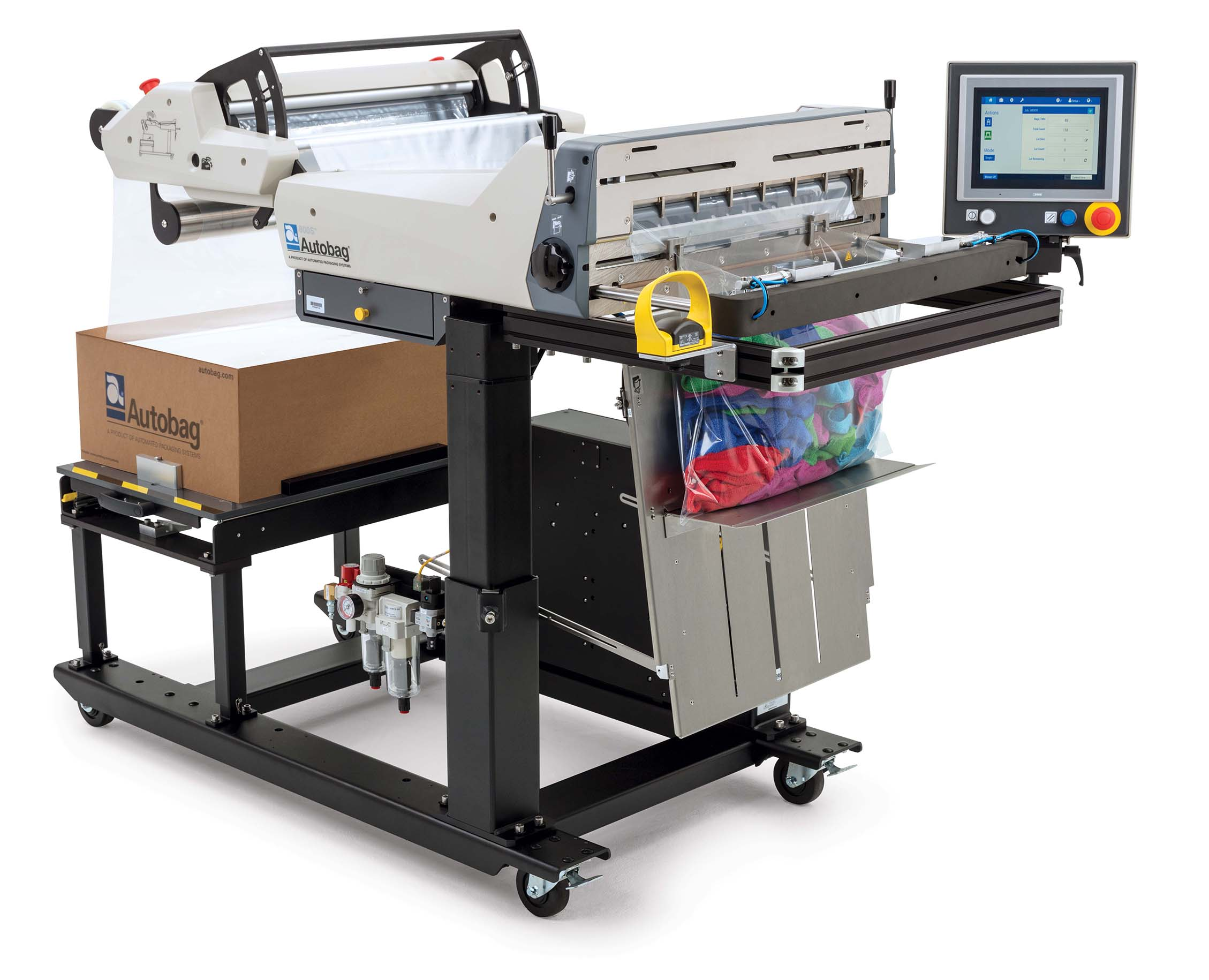 Autobag 800S automatic bag sealer rags application