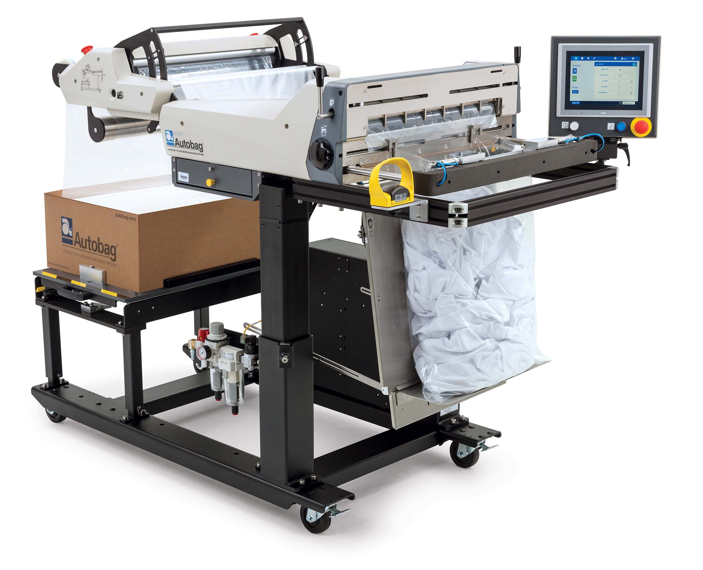 Autobag 800S automatic bag sealer hospital sheets application