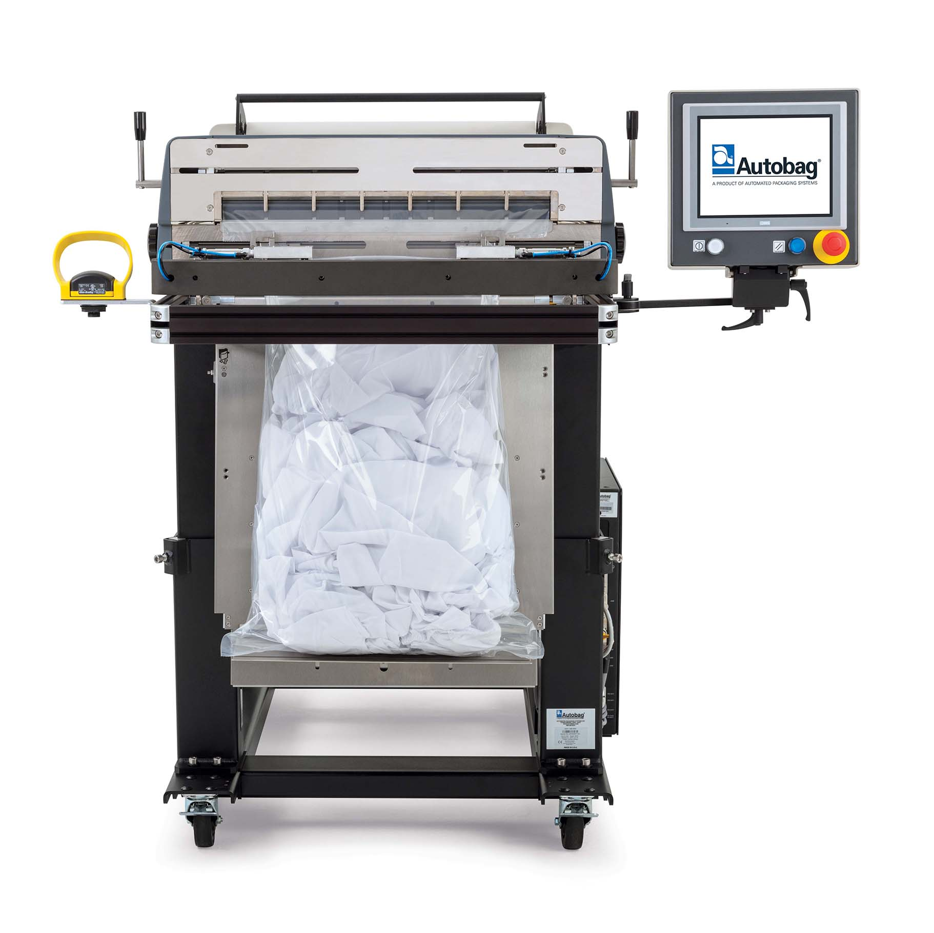 Autobag 800S automatic bag sealer front view hospital sheets applications