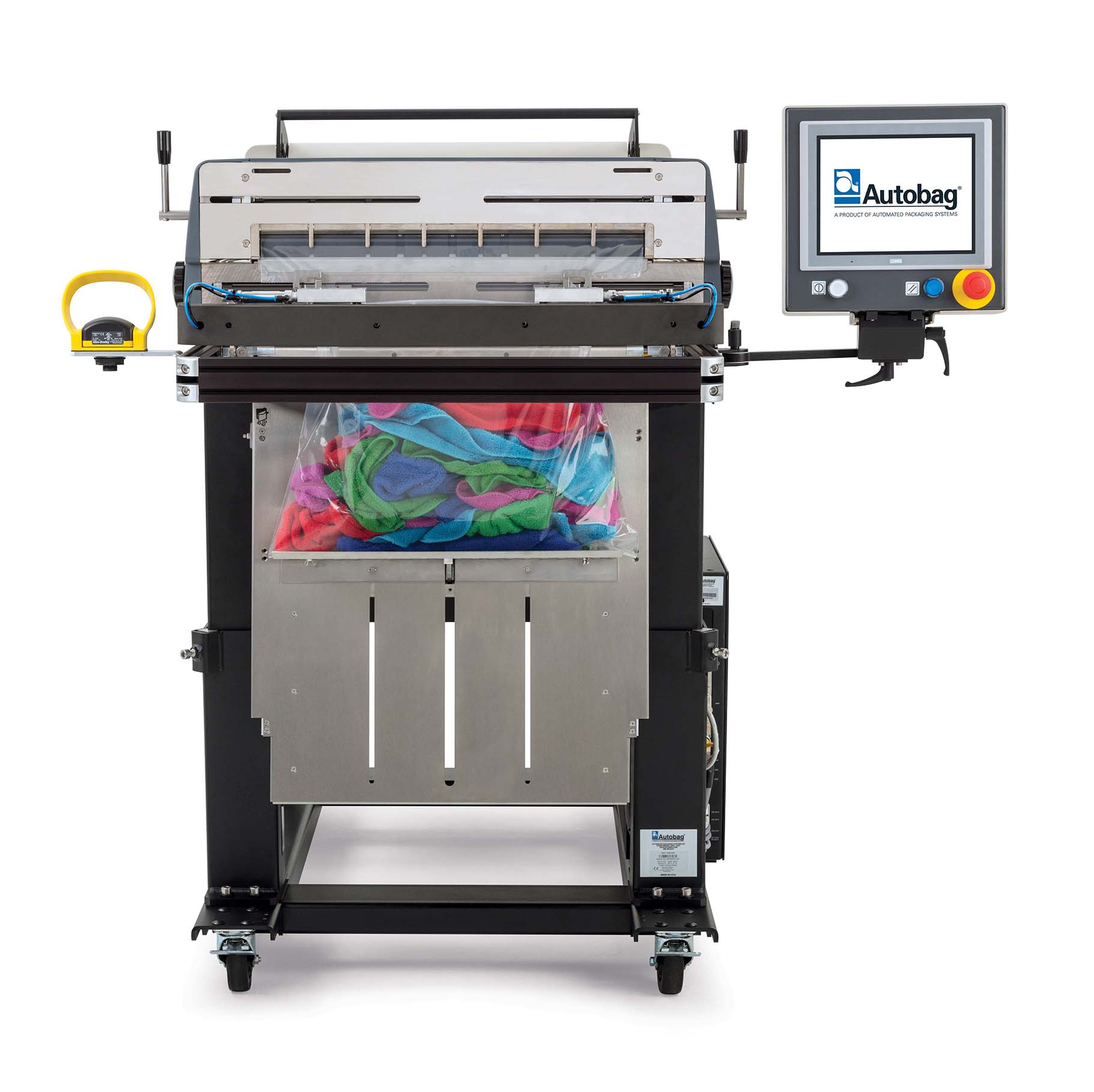 Autobag 800S automatic bag sealer front view rags applications image 1