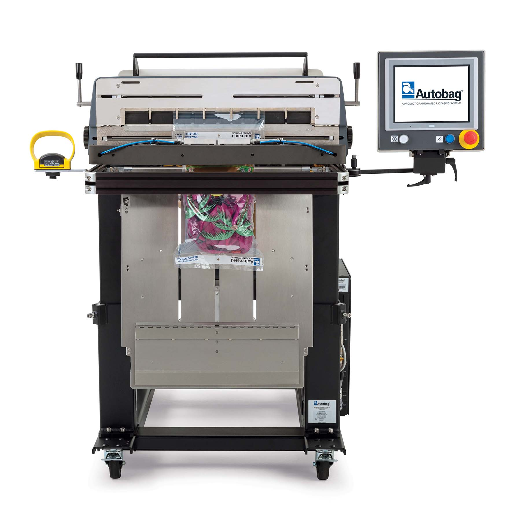 Autobag 800S automatic bag sealer front view rags applications image 2