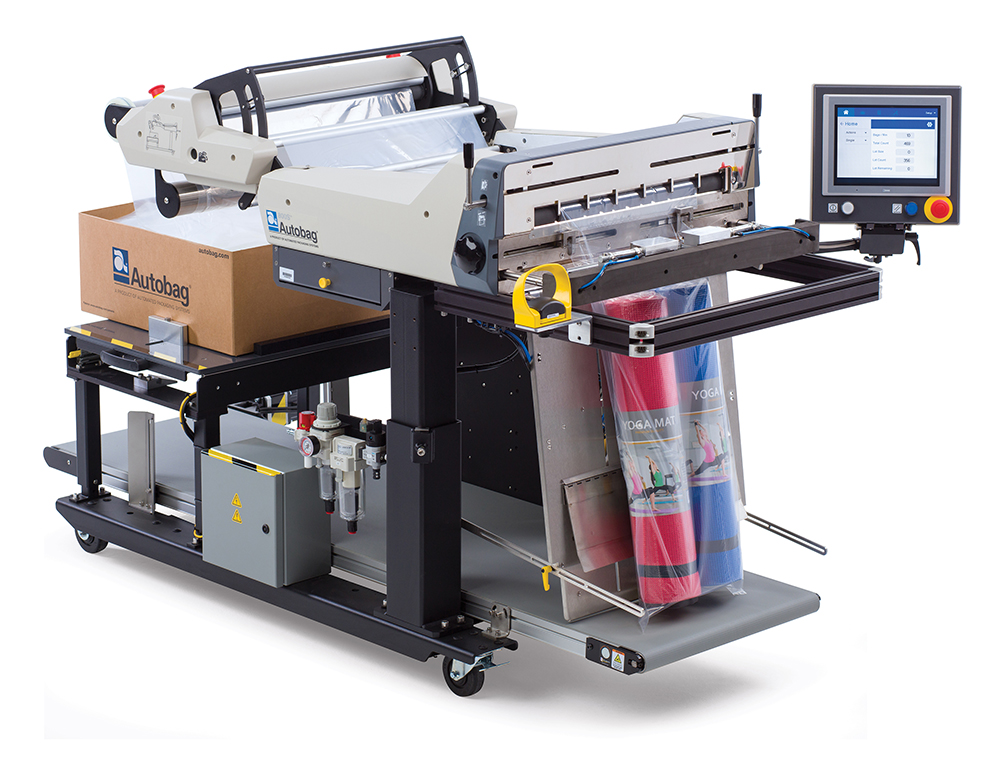 Autobag 800S automatic bag sealer yoga mats application