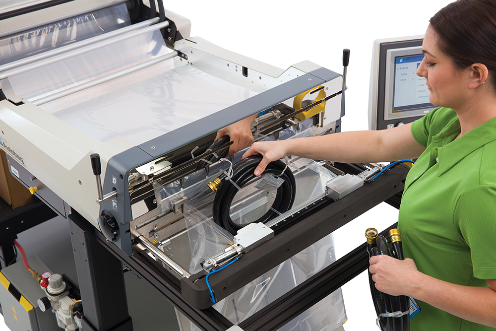 Autobag 800S automatic bag sealer close up