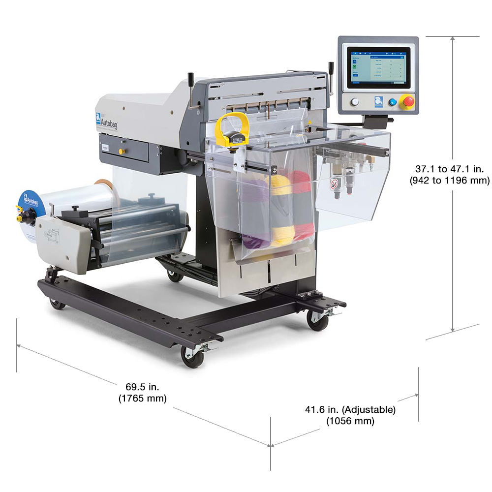 Autobag 600 packaging machine dimensions