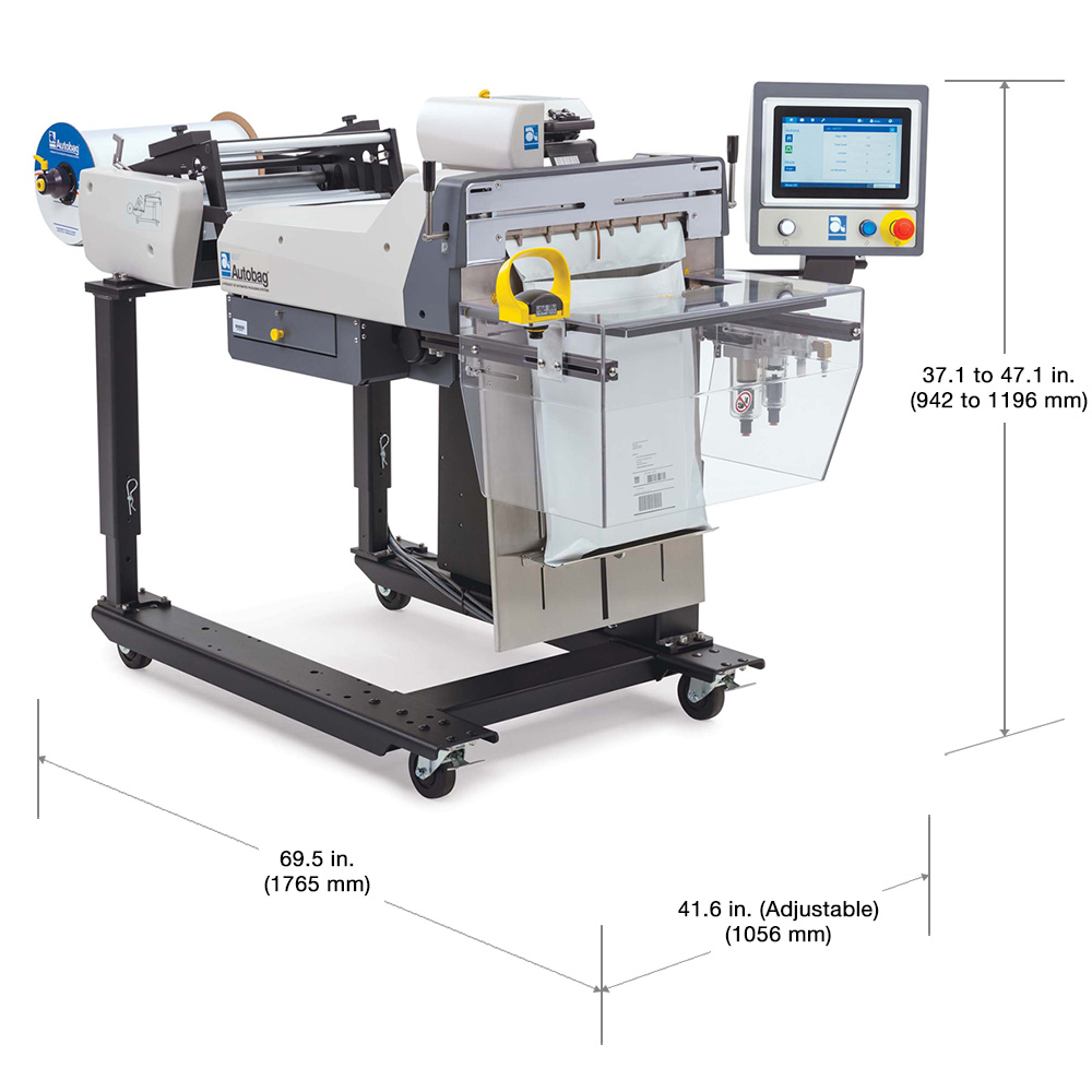 Autobag 650 large bag packing machinery dimensions
