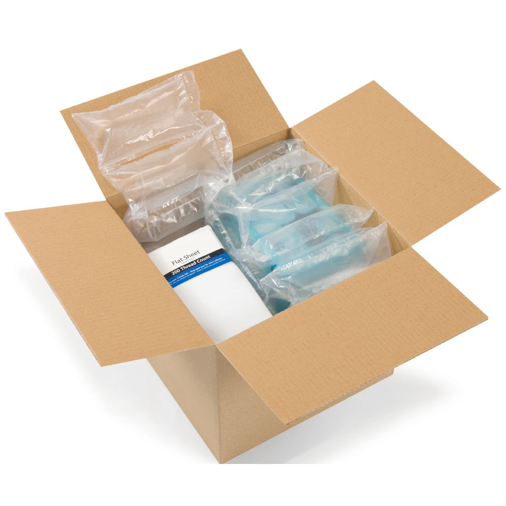 Box showing our AirPouch EZ-Tear AirPillows which have been tested for dependability