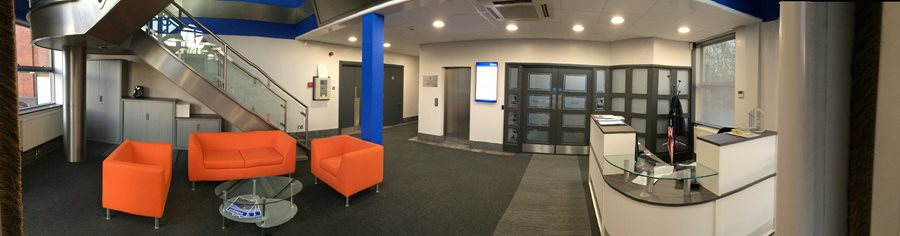 Automated Packaging Systems UK Headquarters Lobby