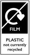 Label for Film, Plastic not currently recycled