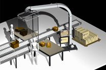 Warehouse Planning increases productivity, reduces cost with the AirPouch Multi-user, overhead hopper