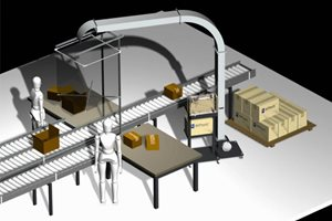 Warehouse Planning increases productivity and reduces cost with the AirPouch Multi-user, overhead hopper