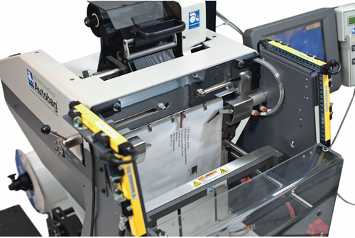 Autobag AB 180 OneStep Bagging System with mailbag printing label