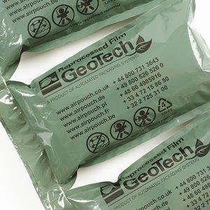 Close up photo of AirPouch GeoTech Reprocessed material Air Pillows