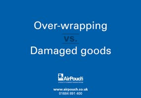 Over-wrapping vs. Damaged good title slide