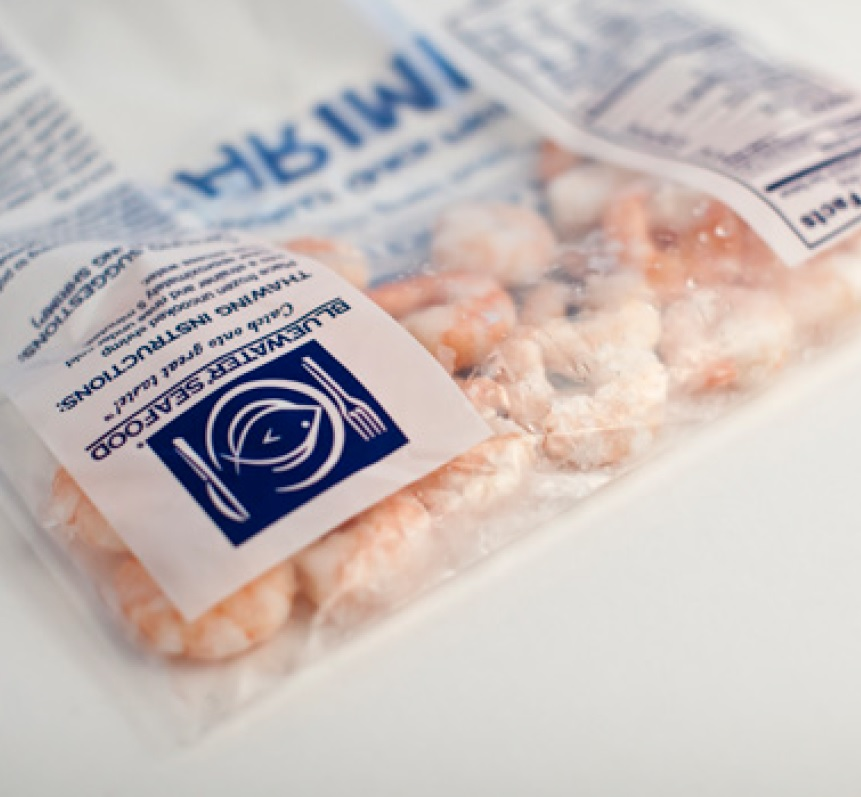 Food bag showing our inline printing capabilities to help make sure your labels meet government standards