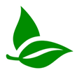 Green icon of leaves