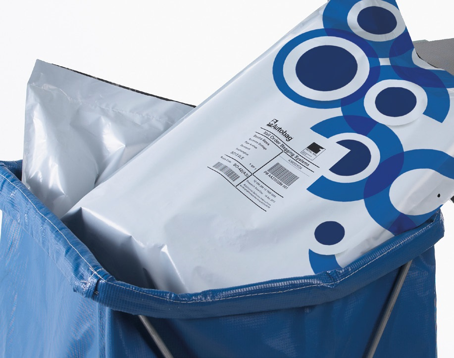 Mail order fulfillment bags with printed labels